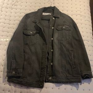 ZARA Oversized Black Denim Jacket